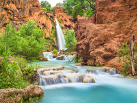 Havasu falls, desert, Spring, waterfall, blue, green