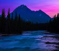 Fiery Skies,Jasper National Park, Canada,sun,blue,water