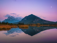 Softly Pink,Banf National Park, Canada,pink,mountain,reflection