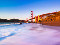 Gateway to the Pacific, Bridge,California,Golden Gate Bridge,Horizontal,Orange,San Francisco,cityscape,landscape,sunset