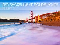 Red Shoreline at Golden Gate