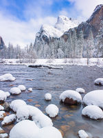 Snowcapped in Yosemite,landscape,winter,Yosemite National Park, California,snowcap,vertical