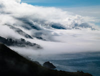 Among Sur,California,Horizontal,Pacific,coastline,landscape,ocean,Clouds