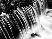Liquid Silver, Black and White, California, Natural Spring, Yosemite National Park, horizontal, steam, BW, B&W, Black, White