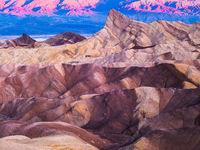 Sun Painting Stone,California,Death Valley National Park,Desert,Purple,Sunrise,Yellow,horizontal