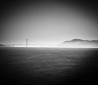 Golden Gate, Black and White, Bridge, California, Golden Gate Bridge, Horizontal, San Francisco, landscape, BW, B&W, Black, White