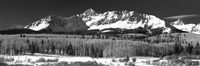 San Juan National Forest, Colorado, Wilson Peak, winter, panoramic, horizontal