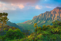 Among Clouds,Kauai Island, Hawaii,Clouds,Ocean,Trail,Narrow Path