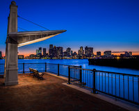 A View to Boston,Blue,Boston,Cityscape,Sunset,horizontal,orange