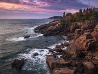 First Light at Acadia,Acadia National Park, Maine,shoreline,light,Ocean