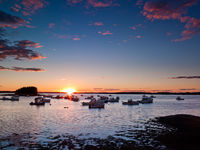 Jonesport Sunset,Fishing Boat,Lobster boat,Maine,New England,Sunset,horizontal