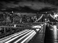Walking the Brooklyn, Brooklyn, NY, bridge, cityscape