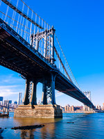 Manhattan Bridge,Vertical,Manhattan, Bridge,Manhattan,New York,Tail,Water,Tail,Blue