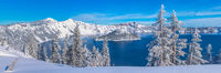 Crater Lake Blues, Crater Lake National Park, winter, wilderness