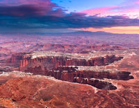 The Maze,Canyonlands NP,Canyons,Desert,Sunset,horizontal