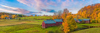 Autumn,New England,Autumn in Vermont,green,Panoramic,yellow,Vermont,horizontal