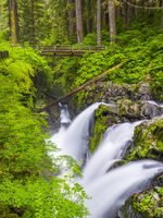 Olympic NP, Sol Duc Falls, National Park, waterfall, water, green