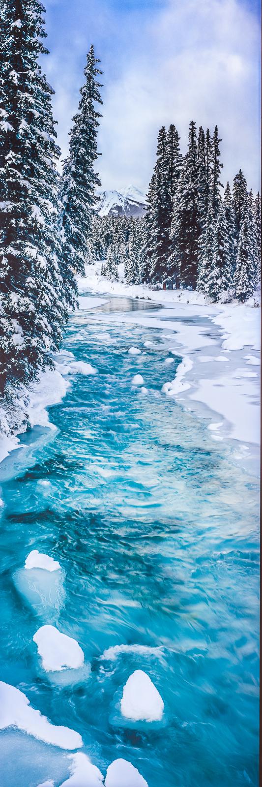 Bow River Blue,Grand Teton National Park, Wyoming,light,panoramic,horizontal,water, photo