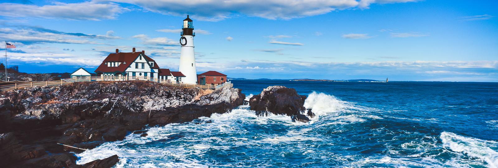 Lighting the Blues,Cape Elizabeth, Lighthouse, Maine, Ocean, photo