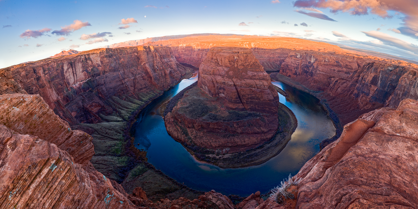 As the moon and sun share a moment the canyons begin to light up. There is no experience like walking up to Horseshoe Bend. For...