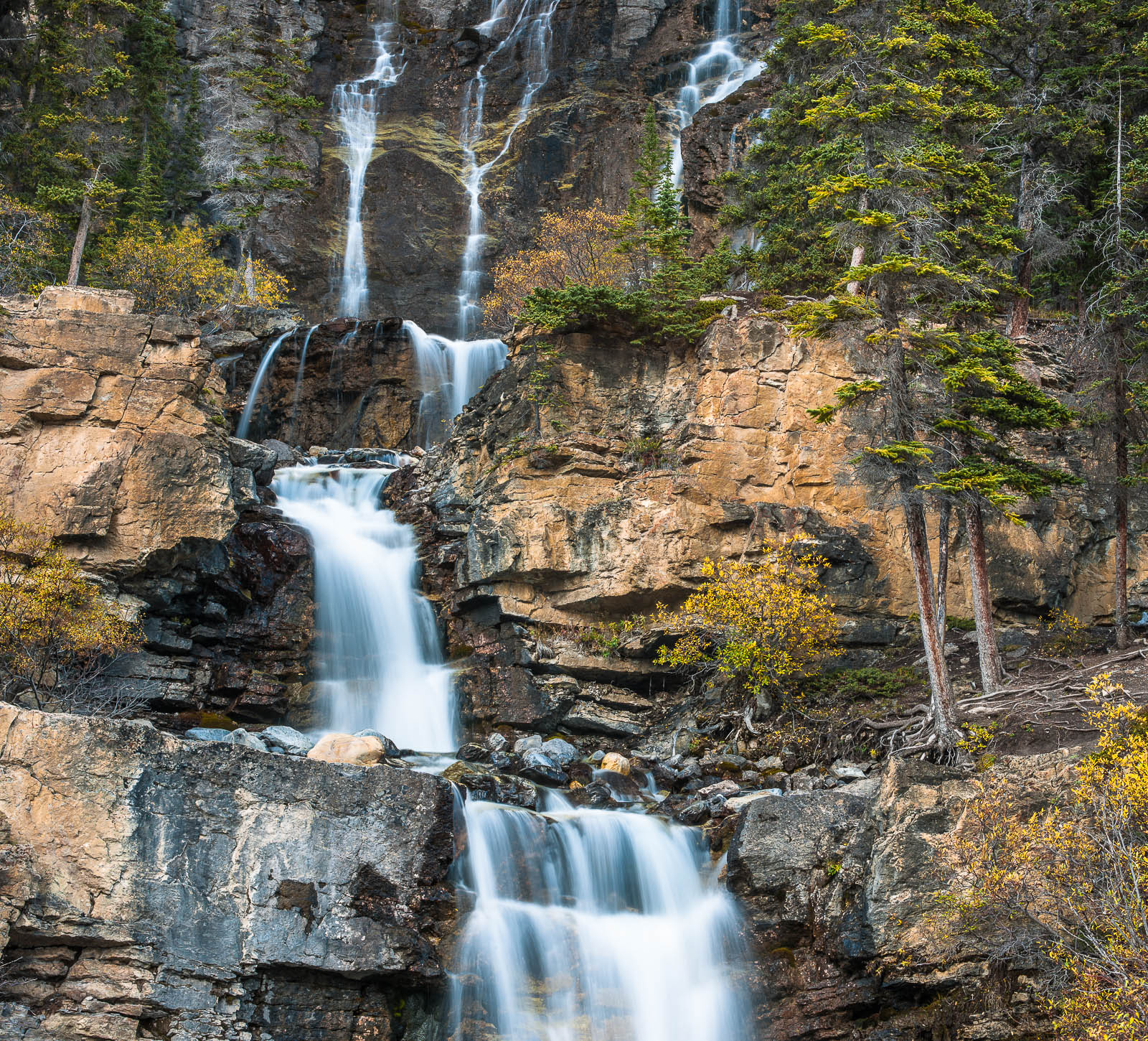 Tangle Falls,Water,Tangle fall,horizontal,Jasper National Park, Canada,Landscape, photo