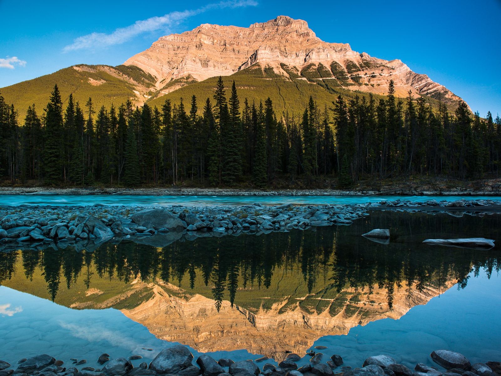 Mountain,Canada,jasper national park,water,magic,Reflection,Blue, Horizontal, yellow, Green, photo