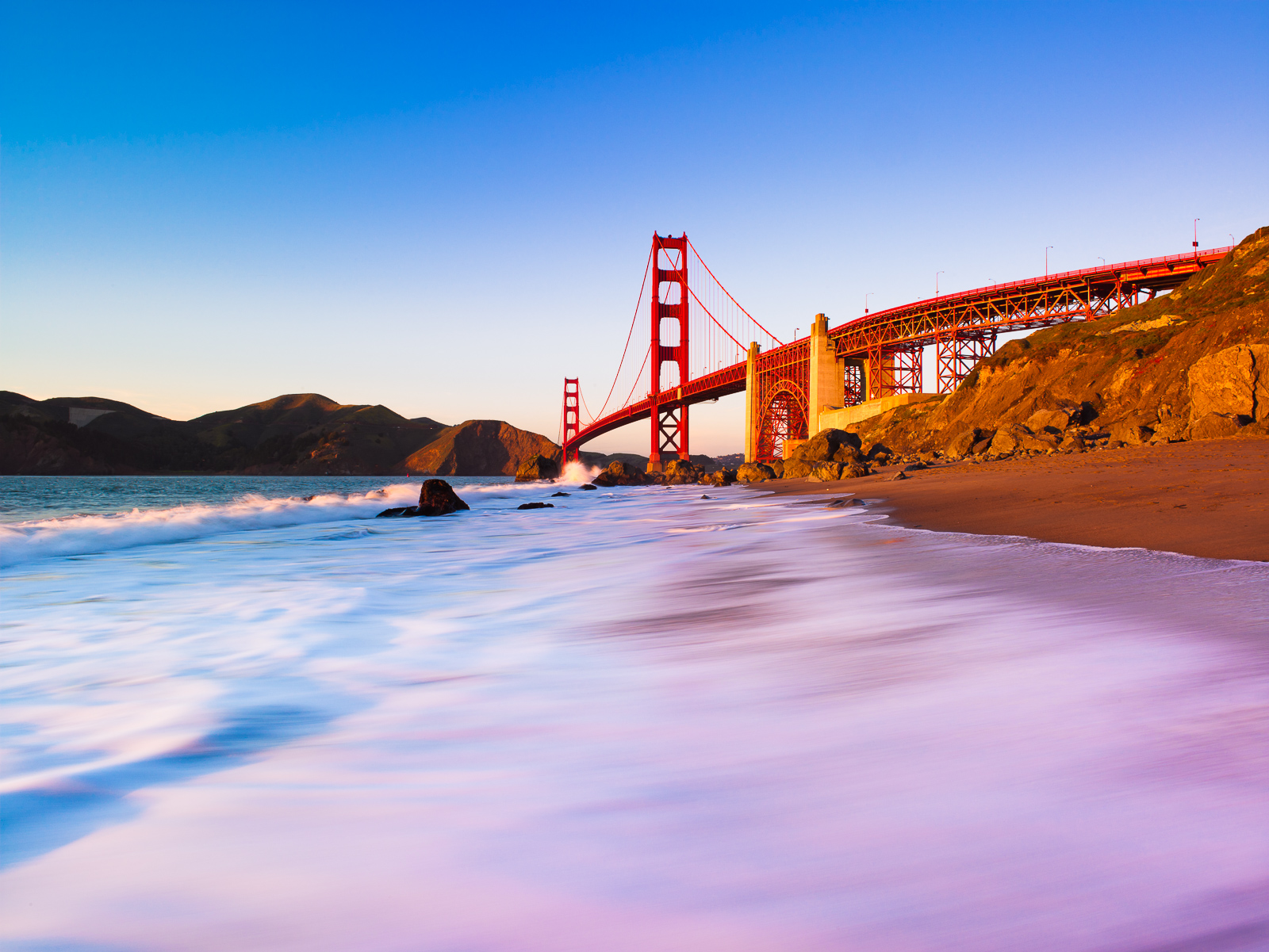 Gateway to the Pacific, Bridge,California,Golden Gate Bridge,Horizontal,Orange,San Francisco,cityscape,landscape,sunset, photo