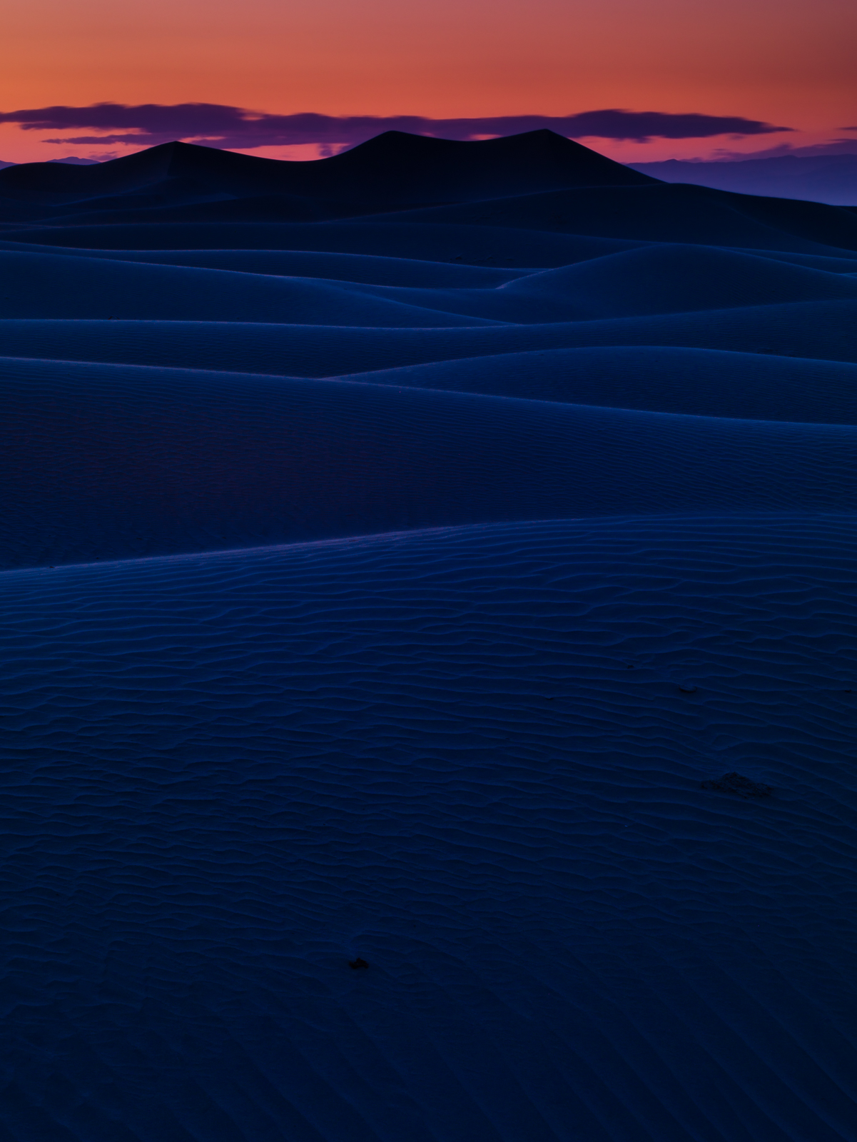 Blue Sand Sunset,California,Desert,Dunes,Orange,landscape,vertical, photo