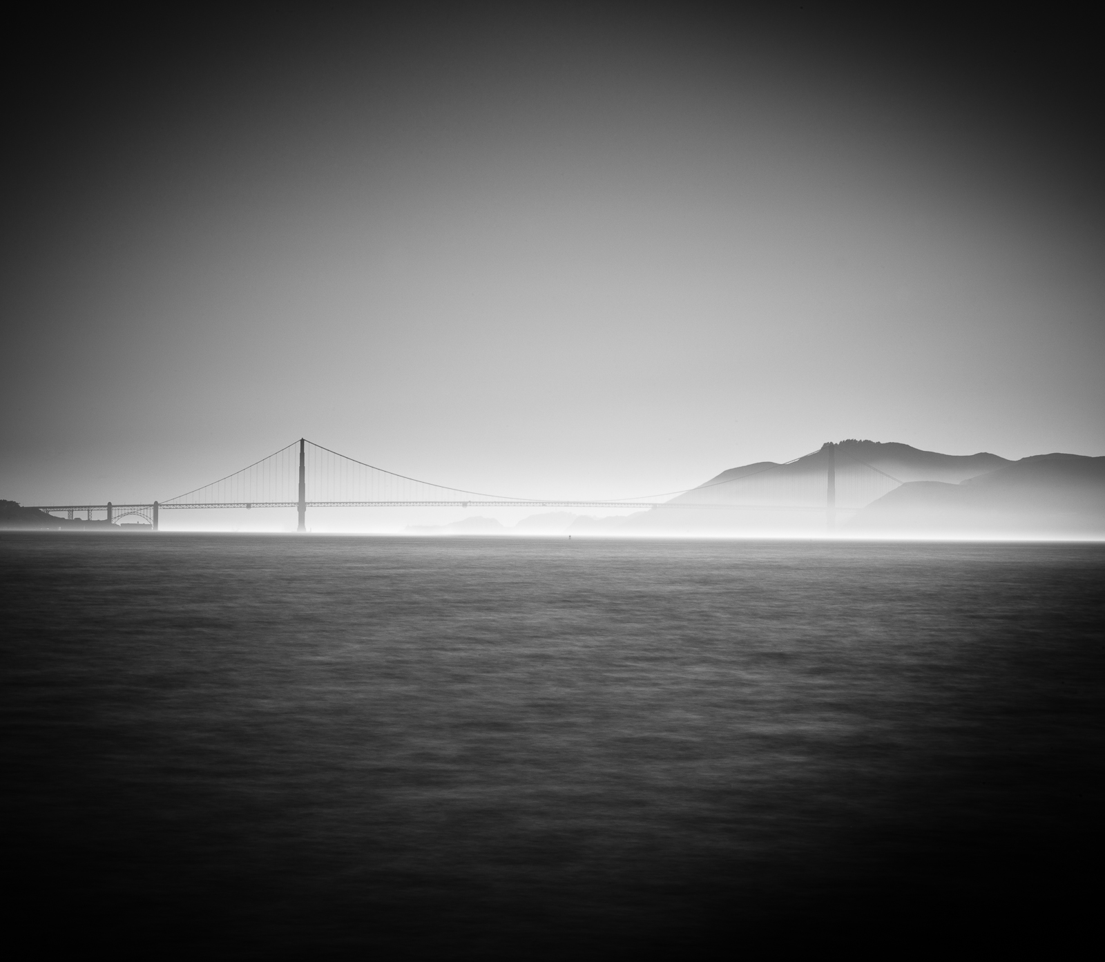 Golden Gate, Black and White, Bridge, California, Golden Gate Bridge, Horizontal, San Francisco, landscape, BW, B&W, Black, White, photo