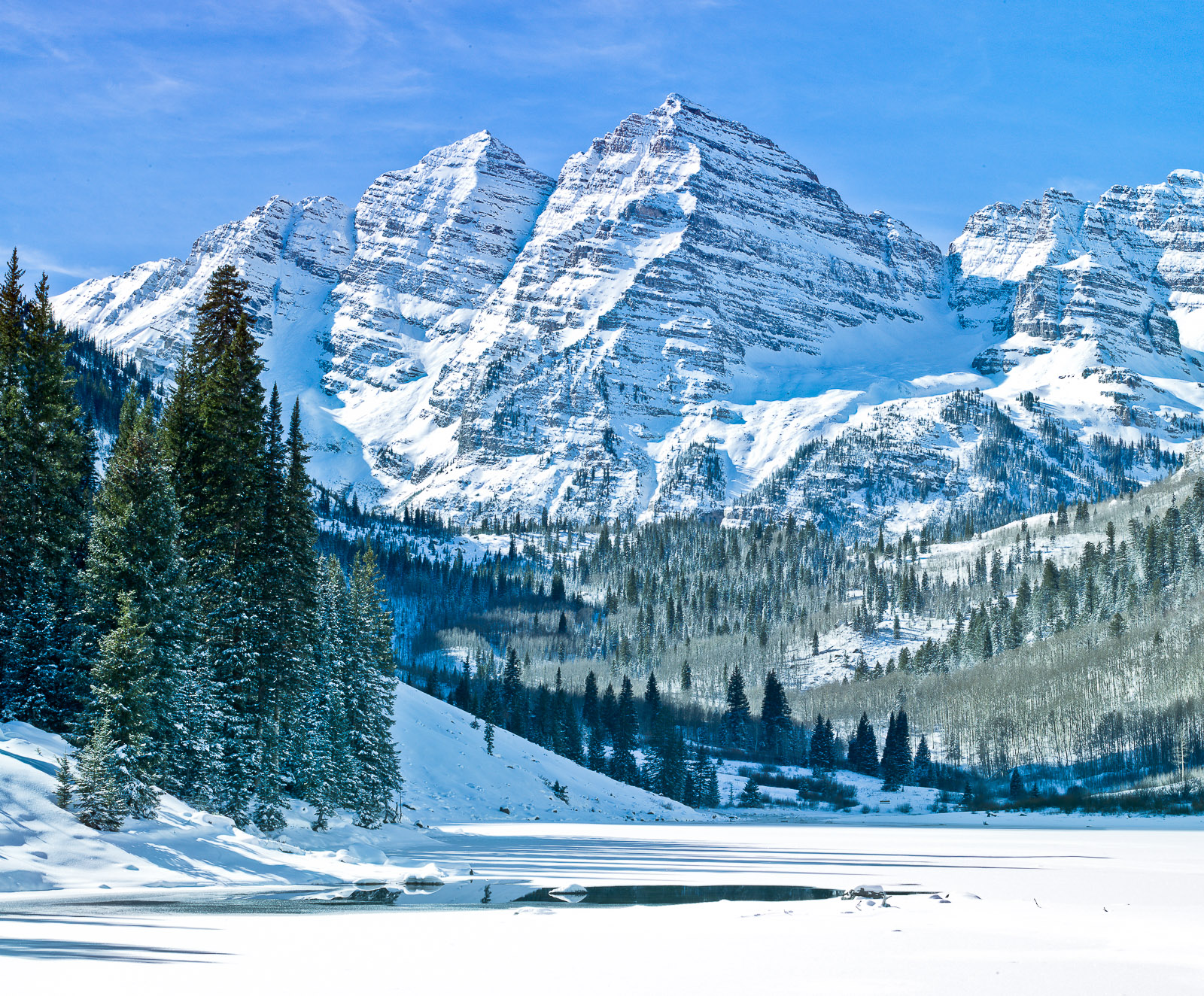 Winter has arrived, but the tourist haven't.  Catching the scene between seasons is like cheating.   Aspen still sit quietly...