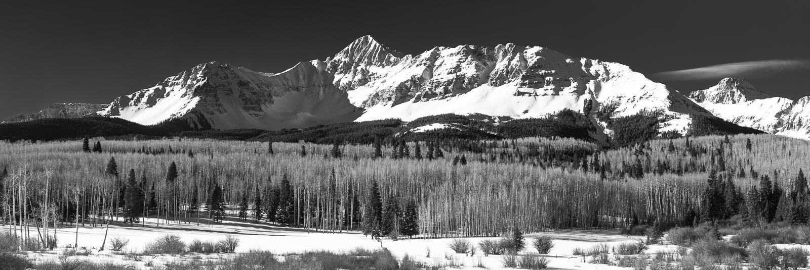 San Juan National Forest, Colorado, Wilson Peak, winter, panoramic, horizontal, photo