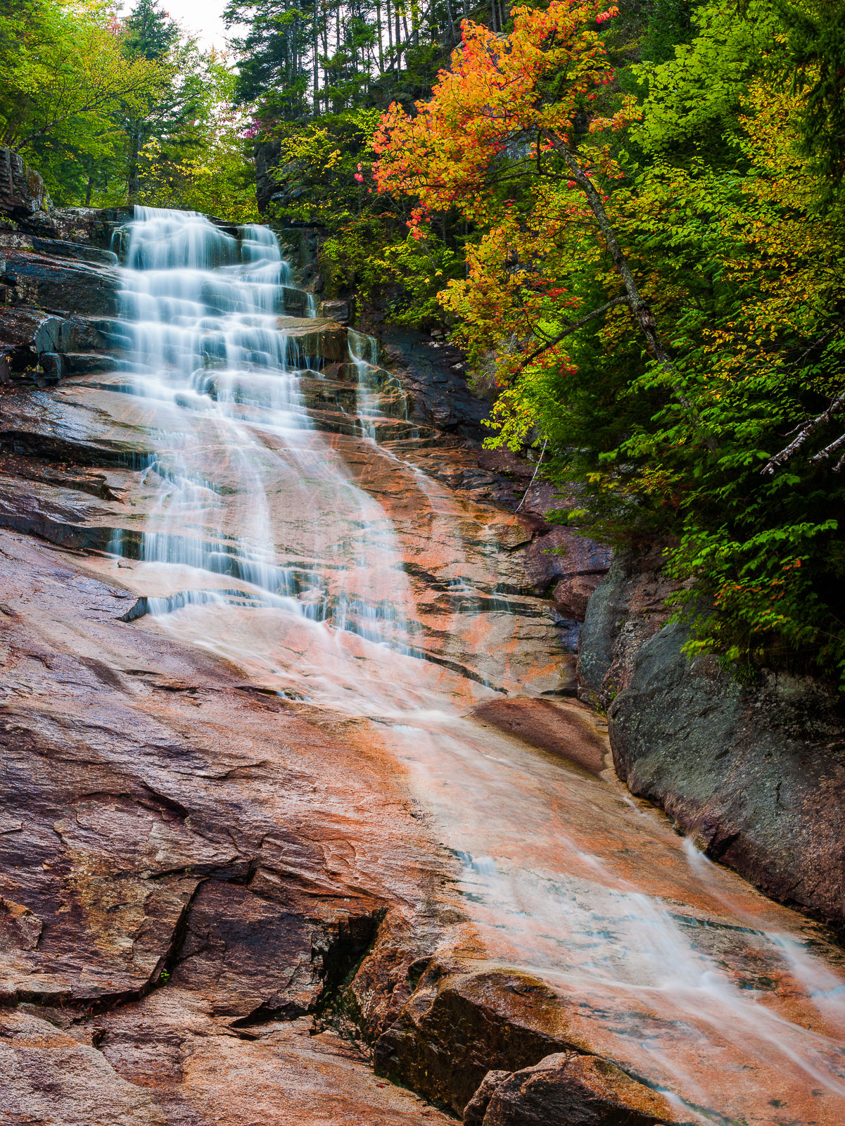 Ripley Falls,Autumn,Crawford Notch,Landscape,New England,New Hampshire,Ripley Falls,Vertical,Waterfall,White Mountains, photo