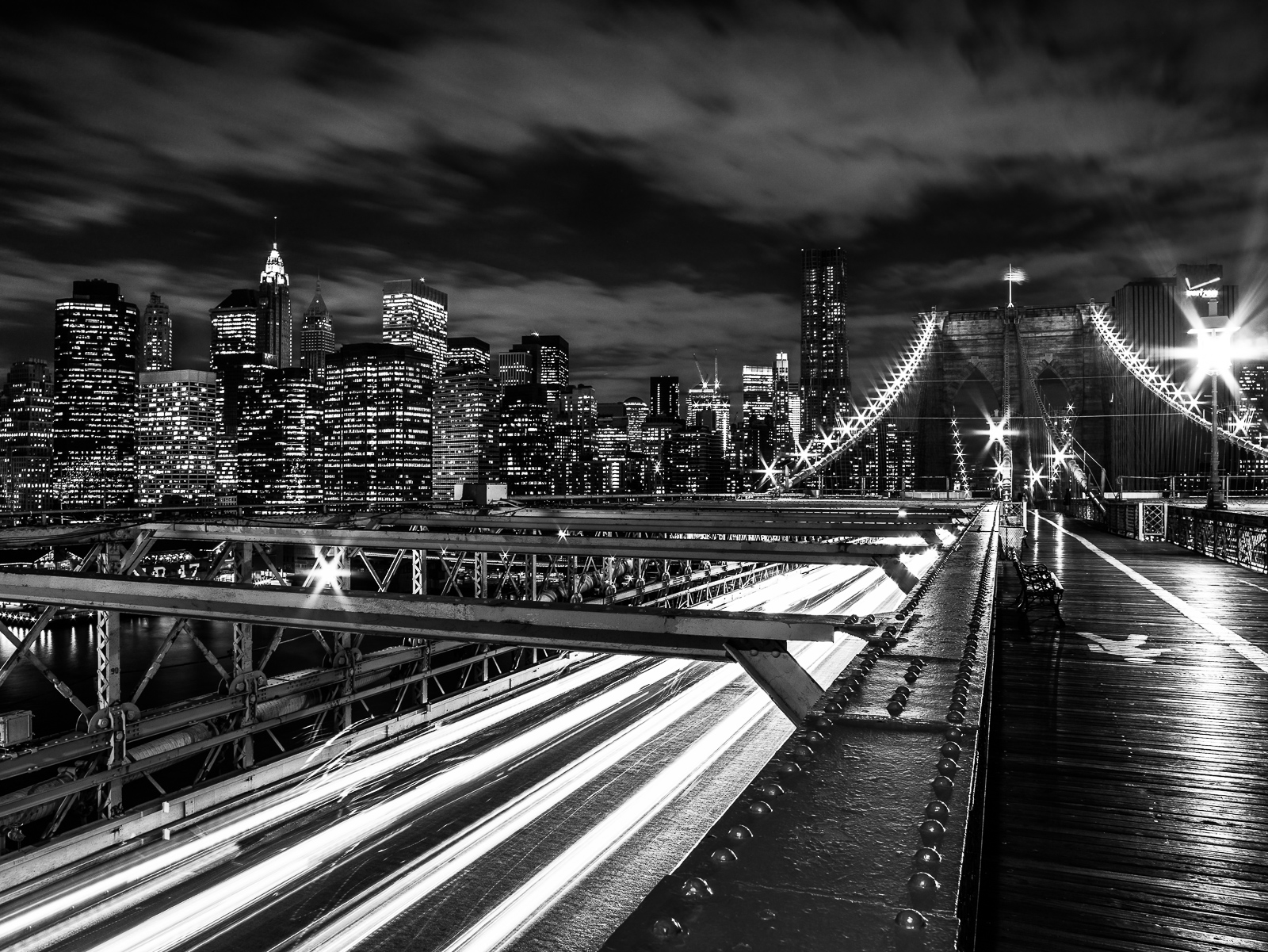Walking the Brooklyn, Brooklyn, NY, bridge, cityscape, photo