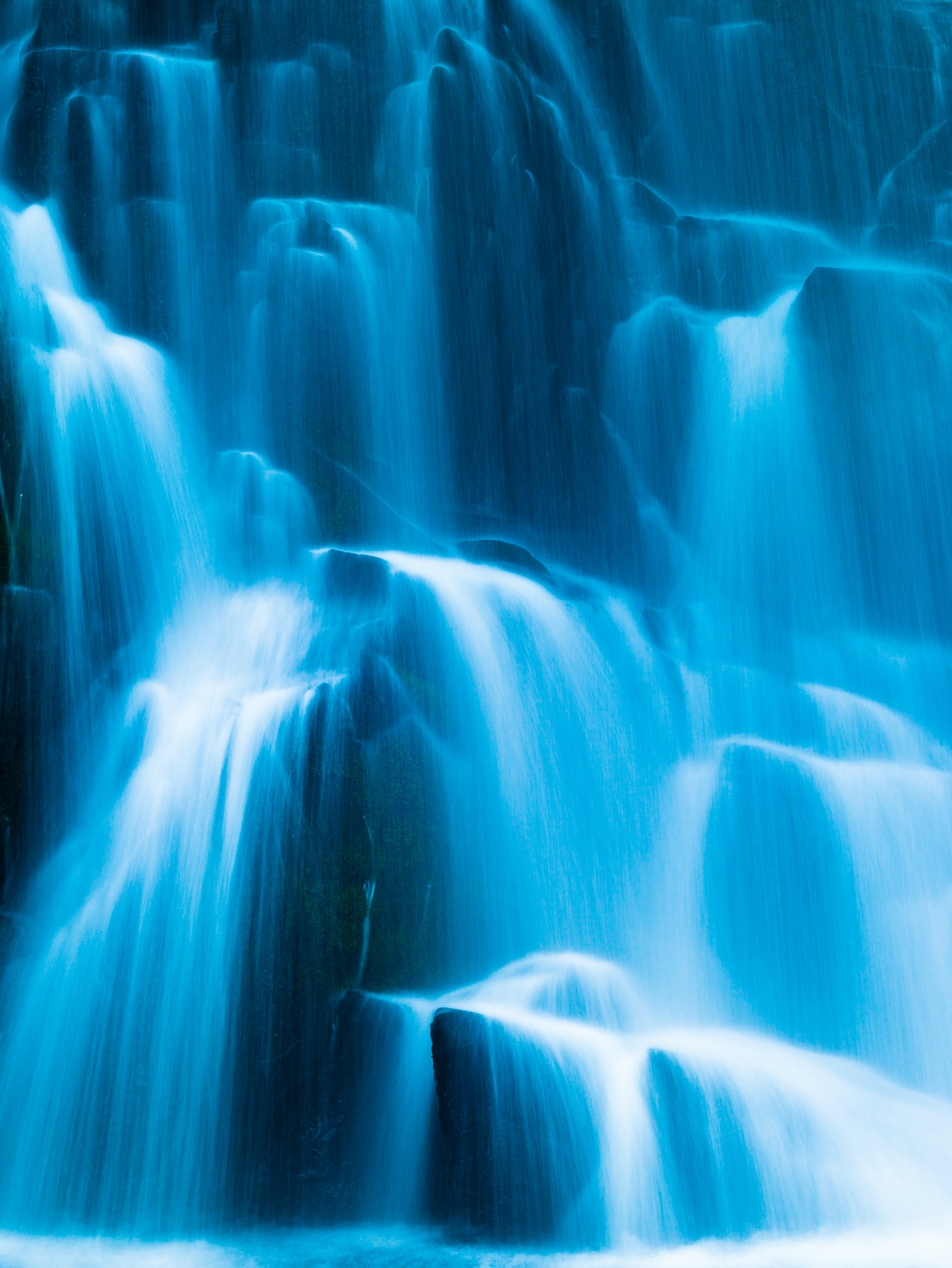 Oregon,blue,Cascading,vertical,waterfalls,Columbia Gorge,, photo