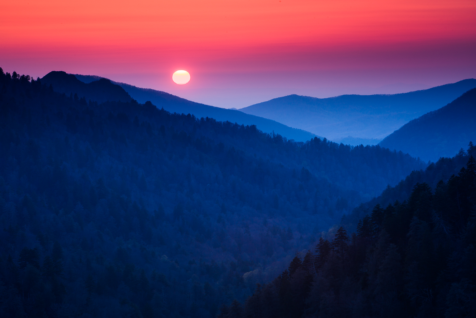 Last Look,Sunset, Smoky Mountains National Park,Sunset, photo