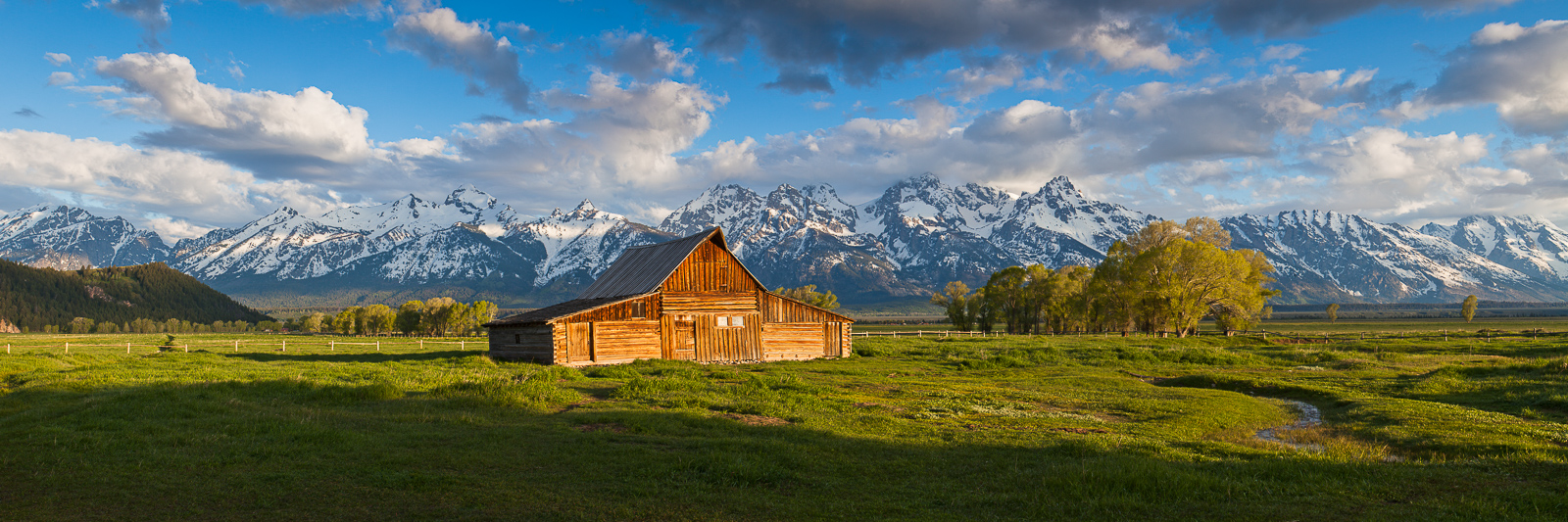 Memmories of Old,Grand Teton NP,Mormon Row,National Park,barn,green,landscape,morning,panoramic,rustic,sunrise, photo