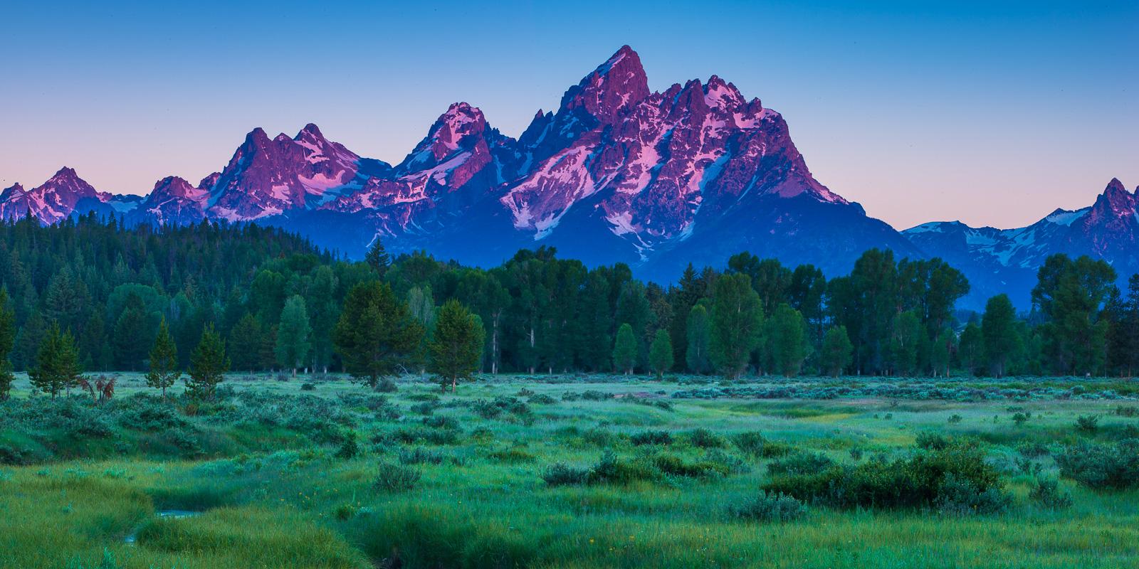 Grand Teton National Park, Wyoming, Purple Tetons, mountain, photo